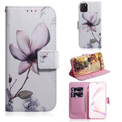 Magnolia Flower PU Leather Wallet Case for Samsung Galaxy A81