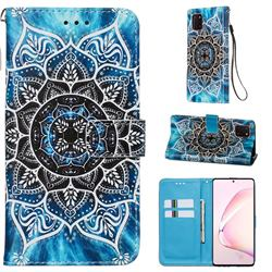 Underwater Mandala Matte Leather Wallet Phone Case for Samsung Galaxy A81