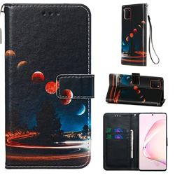 Wandering Earth Matte Leather Wallet Phone Case for Samsung Galaxy A81