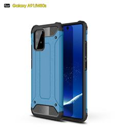 King Kong Armor Premium Shockproof Dual Layer Rugged Hard Cover for Samsung Galaxy A91 - Sky Blue