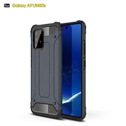 King Kong Armor Premium Shockproof Dual Layer Rugged Hard Cover for Samsung Galaxy A91 - Navy