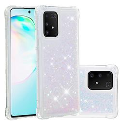 Dynamic Liquid Glitter Sand Quicksand Star TPU Case for Samsung Galaxy A91 - Pink