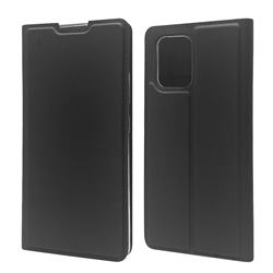 Ultra Slim Card Magnetic Automatic Suction Leather Wallet Case for Samsung Galaxy A91 - Star Grey