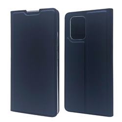 Ultra Slim Card Magnetic Automatic Suction Leather Wallet Case for Samsung Galaxy A91 - Royal Blue