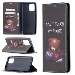 Chainsaw Bear Slim Magnetic Attraction Wallet Flip Cover for Samsung Galaxy A91