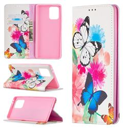 Flying Butterflies Slim Magnetic Attraction Wallet Flip Cover for Samsung Galaxy A91