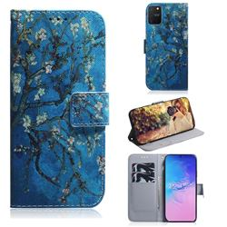 Apricot Tree PU Leather Wallet Case for Samsung Galaxy A91