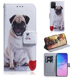 Pug Dog PU Leather Wallet Case for Samsung Galaxy A91
