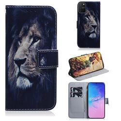 Lion Face PU Leather Wallet Case for Samsung Galaxy A91