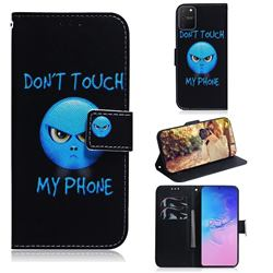 Not Touch My Phone PU Leather Wallet Case for Samsung Galaxy A91