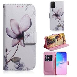 Magnolia Flower PU Leather Wallet Case for Samsung Galaxy A91