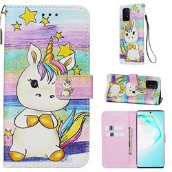 Spiral Pony Matte Leather Wallet Phone Case for Samsung Galaxy A91