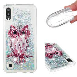 Seashell Owl Dynamic Liquid Glitter Quicksand Soft TPU Case for Samsung Galaxy M10