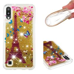 Golden Tower Dynamic Liquid Glitter Quicksand Soft TPU Case for Samsung Galaxy M10