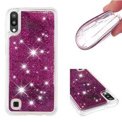 Dynamic Liquid Glitter Quicksand Sequins TPU Phone Case for Samsung Galaxy M10 - Purple