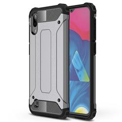King Kong Armor Premium Shockproof Dual Layer Rugged Hard Cover for Samsung Galaxy M10 - Silver Grey