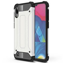 King Kong Armor Premium Shockproof Dual Layer Rugged Hard Cover for Samsung Galaxy M10 - White
