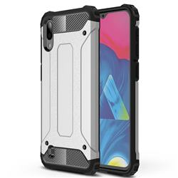 King Kong Armor Premium Shockproof Dual Layer Rugged Hard Cover for Samsung Galaxy M10 - Technology Silver
