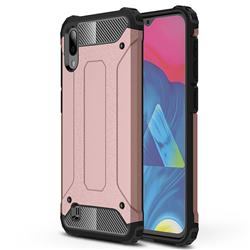 King Kong Armor Premium Shockproof Dual Layer Rugged Hard Cover for Samsung Galaxy M10 - Rose Gold
