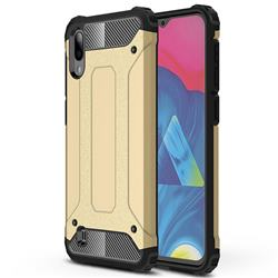 King Kong Armor Premium Shockproof Dual Layer Rugged Hard Cover for Samsung Galaxy M10 - Champagne Gold