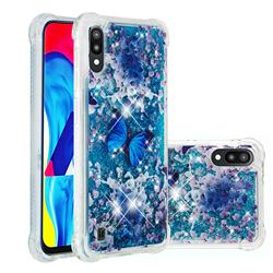 Flower Butterfly Dynamic Liquid Glitter Sand Quicksand Star TPU Case for Samsung Galaxy M10