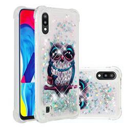 Sweet Gray Owl Dynamic Liquid Glitter Sand Quicksand Star TPU Case for Samsung Galaxy M10