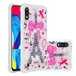 Mirror and Tower Dynamic Liquid Glitter Sand Quicksand Star TPU Case for Samsung Galaxy M10