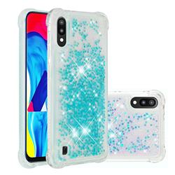 Dynamic Liquid Glitter Sand Quicksand TPU Case for Samsung Galaxy M10 - Silver Blue Star