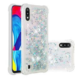 Dynamic Liquid Glitter Sand Quicksand Star TPU Case for Samsung Galaxy M10 - Silver