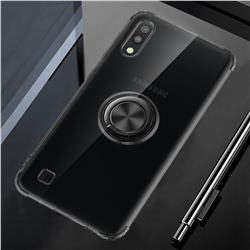 Anti-fall Invisible Press Bounce Ring Holder Phone Cover for Samsung Galaxy M10 - Elegant Black