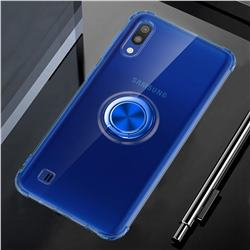 Anti-fall Invisible Press Bounce Ring Holder Phone Cover for Samsung Galaxy M10 - Sapphire Blue