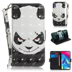 Angry Bear 3D Painted Leather Wallet Phone Case for Samsung Galaxy M10