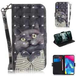 Cat Embrace 3D Painted Leather Wallet Phone Case for Samsung Galaxy M10