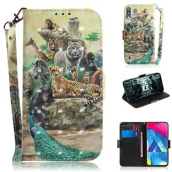 Beast Zoo 3D Painted Leather Wallet Phone Case for Samsung Galaxy M10