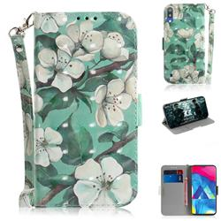 Watercolor Flower 3D Painted Leather Wallet Phone Case for Samsung Galaxy M10