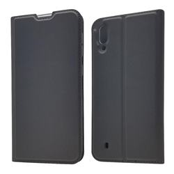 Ultra Slim Card Magnetic Automatic Suction Leather Wallet Case for Samsung Galaxy M10 - Star Grey