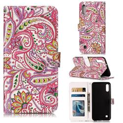 Pepper Flowers 3D Relief Oil PU Leather Wallet Case for Samsung Galaxy M10
