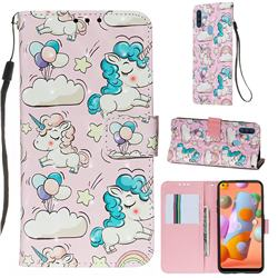 Angel Pony 3D Painted Leather Wallet Case for Samsung Galaxy M11