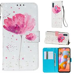 Watercolor 3D Painted Leather Wallet Case for Samsung Galaxy M11