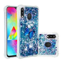 Flower Butterfly Dynamic Liquid Glitter Sand Quicksand Star TPU Case for Samsung Galaxy M20