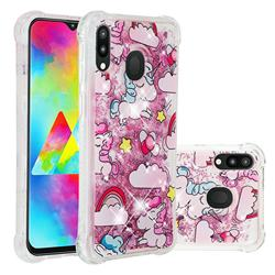 Angel Pony Dynamic Liquid Glitter Sand Quicksand Star TPU Case for Samsung Galaxy M20