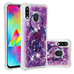 Retro Wind Chimes Dynamic Liquid Glitter Sand Quicksand Star TPU Case for Samsung Galaxy M20