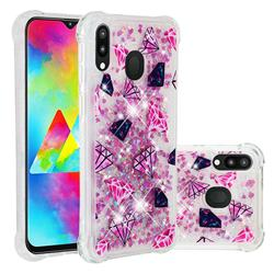 Diamond Dynamic Liquid Glitter Sand Quicksand Star TPU Case for Samsung Galaxy M20