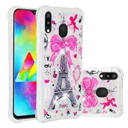 Mirror and Tower Dynamic Liquid Glitter Sand Quicksand Star TPU Case for Samsung Galaxy M20