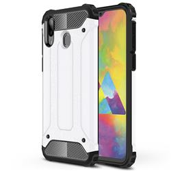 King Kong Armor Premium Shockproof Dual Layer Rugged Hard Cover for Samsung Galaxy M20 - White