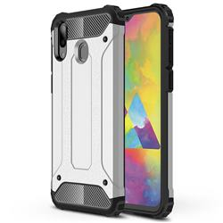 King Kong Armor Premium Shockproof Dual Layer Rugged Hard Cover for Samsung Galaxy M20 - Technology Silver
