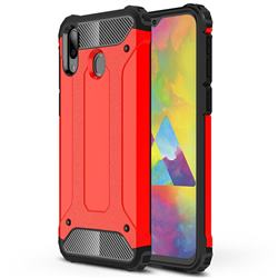 King Kong Armor Premium Shockproof Dual Layer Rugged Hard Cover for Samsung Galaxy M20 - Big Red