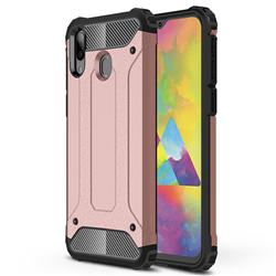 King Kong Armor Premium Shockproof Dual Layer Rugged Hard Cover for Samsung Galaxy M20 - Rose Gold
