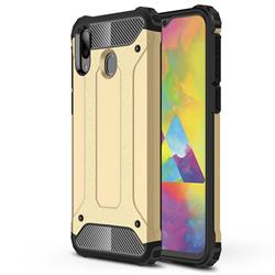 King Kong Armor Premium Shockproof Dual Layer Rugged Hard Cover for Samsung Galaxy M20 - Champagne Gold