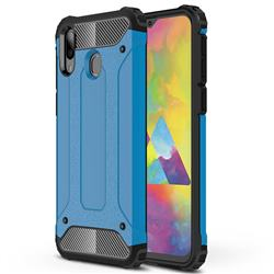 King Kong Armor Premium Shockproof Dual Layer Rugged Hard Cover for Samsung Galaxy M20 - Sky Blue